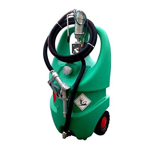 Emilcaddy 55L Benzin Manuelle Kolben-Pumpe (ATEX) 3m Schlauch Man. Pistole Benzintrolley