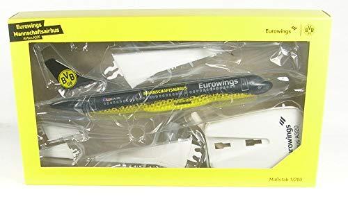 Herpa 611312 Eurowings Airbus A320 BVB Mannschaftsairbus, Fußball, Flugzeug Squadra, Calcio, Aereo, Colore Nero/Giallo
