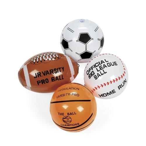 cama24com Aufblasbarer Mini Football Basketball Baseball Fußball 4 Stück Palandi®