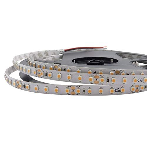 iluminize LED-Streifen: sehr hochwertiger LED-Streifen mit 120 LEDs pro Meter, 8 mm breit, hoch selektiert, 24V, 9,6W pro Meter, 5 m auf Rolle (2700K Ra 80 IP65NANO)