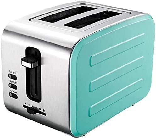 Breadmaker Mini Automatic Toaster RVS Broodrooster-White Set 01 (Broodrooster + waterkoker) 8bayfa (Color : Lake Blue (Send Grill+Bread Clip))