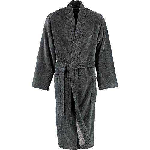 LAGO Bademantel Herren Kimono 800 anthrazit - 77 XL