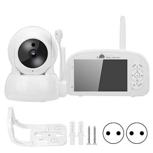 Pantalla TFT de 5 pulgadas Monitor de bebé 1080P Cámara PTZ Música Visión nocturna Detección de temperatura Audio de 2 vías(EU)
