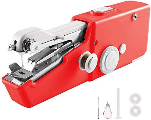 HYDD Mini máquina de Coser a Mano,Hilo de Coser rápido para el hogar,máquina de Coser electrónica portátil/Mejor máquina de Coser sin Brazos para Principiantes,Adecuada para Cuero de Cortina DIY.