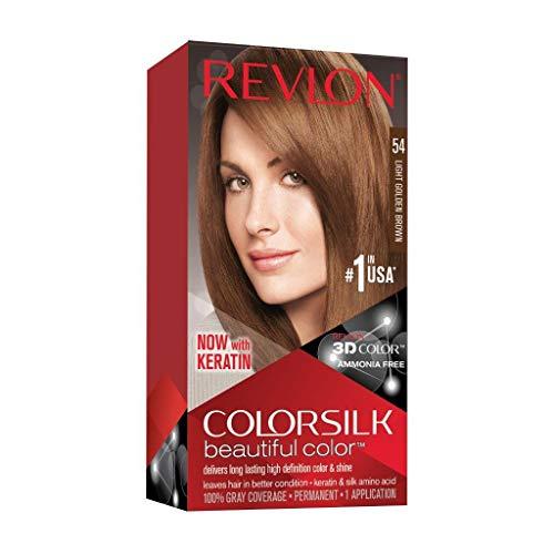 Revlon Tintura per Capelli, Colorsilk Tinte, 200 gr, 54-Castaño Claro Dorado