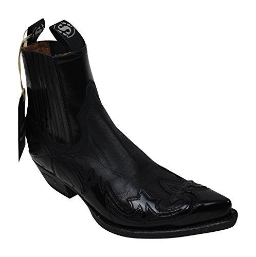 Sendra Cowboystiefel 4660 in schwarz incl. Roy Dunn´s Lederfett (40)