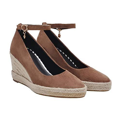 Zapatos Gruesos para Mujer, Fondo Suave, Exterior, Primavera, otoño, Correa de Tobillo, Duradero, para Caminar, Zapatos de cuña Vintage Mary Jane