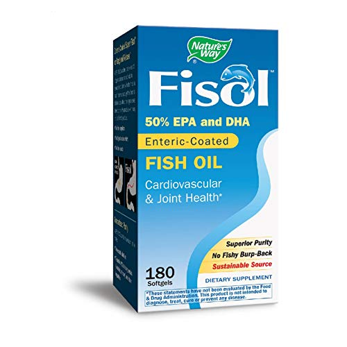 Nature's Way Super Fisol Enteric-Coated Fish Oil for Targeted Release, 70% EPA/DHA, 180 Softgels