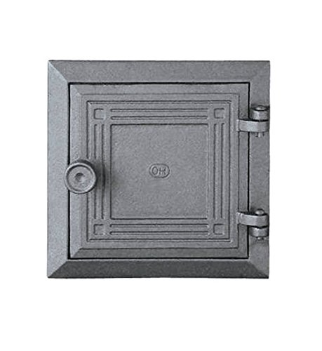 Revisionstür Kachelofentür Ofentür Backofentür Pizzaofentür Holzbackofentür Steinbackofentür aus Gusseisen | Außenmaße: 175x175 mm | Öffnungsrichtung: rechts