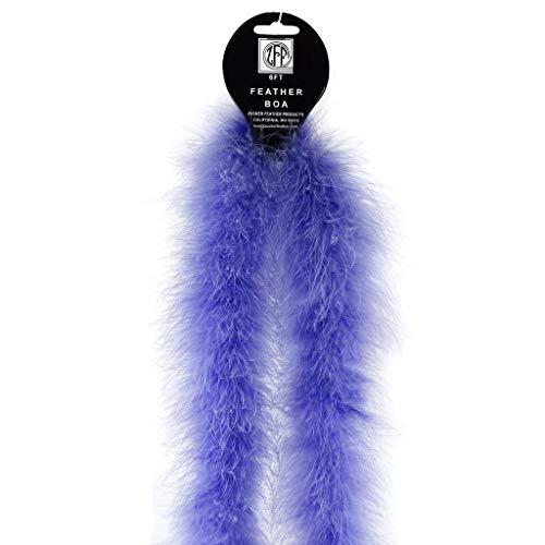 ZUCKER 2yd Marabou Solid Colored Feather Boa - Soft Costume Heavyweight Craft Boa (Lavender)