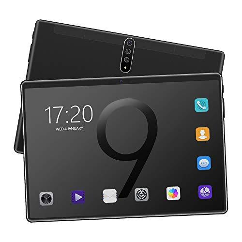 TGHY Tableta Android 10 Pulgadas, 3G Celular + WiFi, 4GB RAM + 64GB ROM, Procesador Octa-Core, Pantalla HD IPS, Cámara Frontal 2MP + Trasera 8MP, 128GB Ampliable, Bluetooth, GPS,Negro,2GB + 32GB