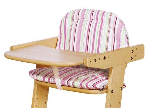 Pinolino 59585-7S - Sitzverkleinerer Treppenstuhl, Stoff Streifen rosa/grün