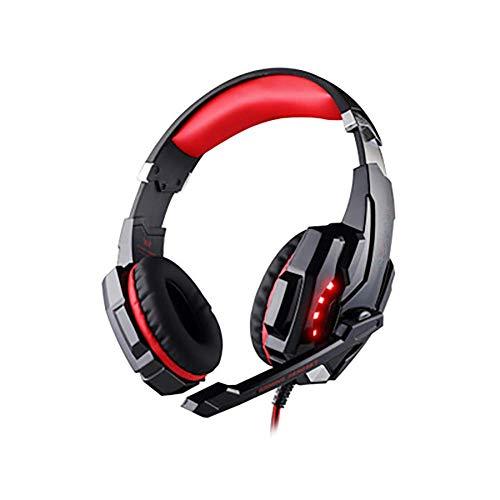 Pro Stereo Gaming Headset for PS4 PC Xbox One S X Nintendo Interruptor Controlador PC portátil Mac, Ruido de los Auriculares del oído Que Cancela sobre con micrófono, LED de luz Blanca- ggsm