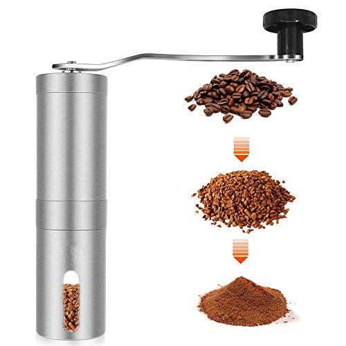 Draagbare koffiemolen Handleiding Handkoffiebonenmolen Roestvrijstalen koffiemachine Handgemaakte minigindermolen voor keuken