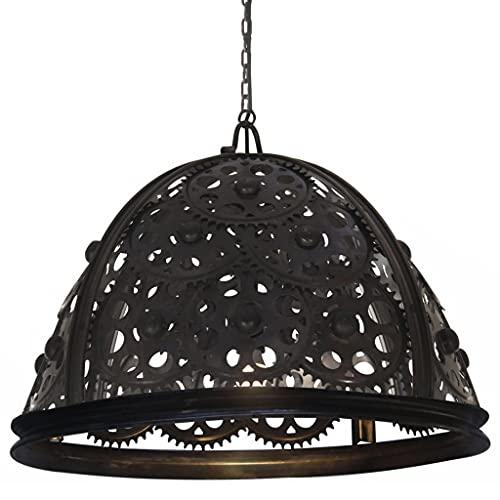 vidaXL Lámpara de Techo Industrial Diseño de Rueda Dentada Luz Colgante Cadena Accesorio Iluminación Salón Comedor Dormitorio Restaurante 65 cm E27