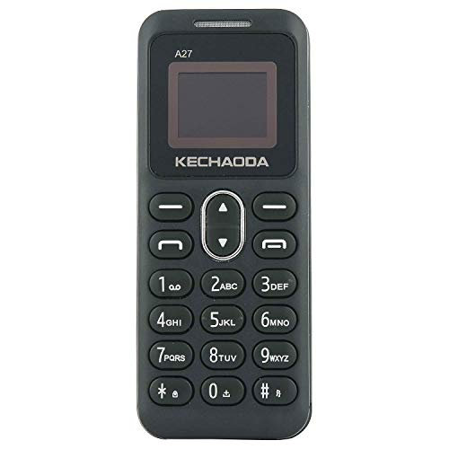 KECHAODA A27 Keypad Dual Sim Mini Mobile Phone with External Memory Slot 0.66 inch Display Only Mobile Phone & Charging Cable in Box, Battery,No Charger - Grey