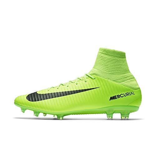Nike Fußballschuhe Mercurial Veloce III FG (Hartböden, Erwachsene, Herren, Sohle mit Stollen, Grün, einfarbig)