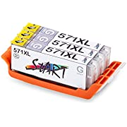 Start - 3 XL Compatible Chip Cartucce per Canon CLI-571 GY XL Grigio