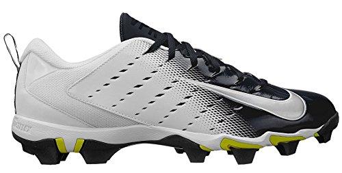 Nike Men's Vapor Untouchable Shark 3 Football Cleats - White/Black, 12 D(M) US