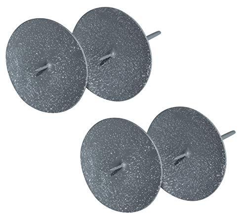 ARTECSIS 4 Kerzenhalter für Adventskranz 12cm Adventskerzenhalter mit Dorn Grau-weiß