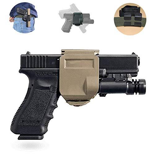 Gexgune Fondina da Cintura Tattica per Pistola per Glock 17 22 23 Fondina per Pistola Softair Airsoft Custodia per Fermaglio per Pistola Sinistra e Destra Accessori per la Caccia