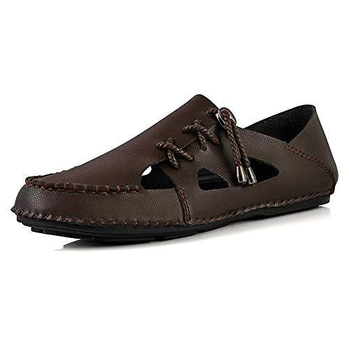 Czcrw Sandalias de Hombre Sandalias de Playa Verano Zapatillas de Zapatos Zapatos Casuales con Cordones al Aire Libre Transpirable Confort Zapatos Masculinos
