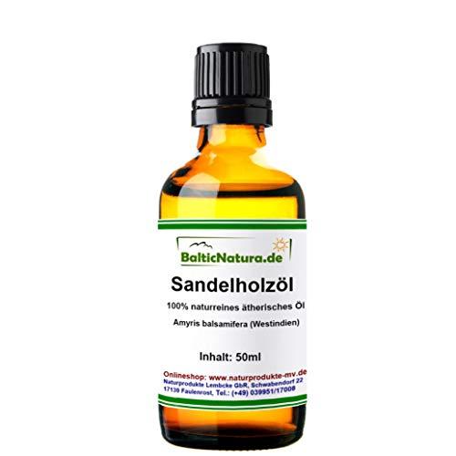Sandelholzöl (50 ml) 100% naturreines ätherisches Öl Sandelholz Öl
