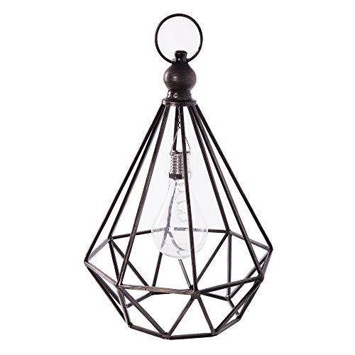 Ldk Garden Lampe Solaire en métal Noir pour terrasse