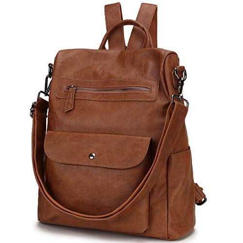 Backpack Purse for Women, Anti Theft Faux Leather Fashion Convertible Shoulder Bag Daypack for Ladies VONXURY