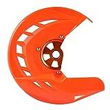 De accesorios de motos EXC SX SXF XC XCF EXCF 125 150 250 300 350 400 450 500 505 525 530 2016-2018 2019 Freno de disco delantero Rotor Protector Robusto y duradero (Color : Orange)