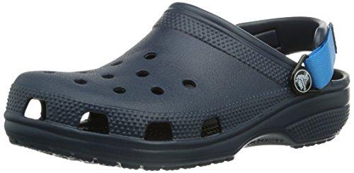 crocs Classic Turbo Strap Clog - Zuecos de goma unisex, color azul, talla 37/38