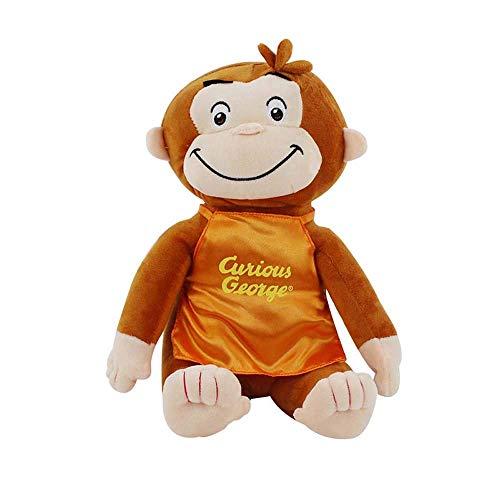 Detazhi 30cm Jorge el Curioso muñeca de la Felpa del Mono Botas Felpa Animal de Peluche Juguetes for niños y niñas (2) (Color : 2)