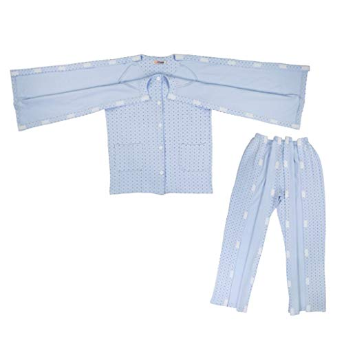 MERIGLARE Bequeme Pflegekleidung Aus Baumwolle Krankenpflegehemd Krankes Hemd Patientenhemd Mit - M