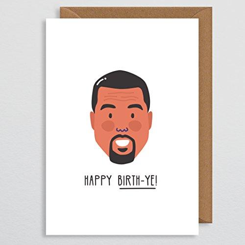 Kanye West Birthday Card - Celebrity Verjaardagskaart Grappig - Rap Verjaardagskaarten - Hip-Hop Card - Gelukkige Verjaardagskaart Vriendje - Kanye - Yeezy - Ye - Grappige Verjaardagskaart - Humor - Komedie - Broer
