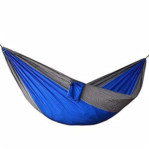 RWEAONT Material de Nylon Hamaca Seguridad Duradera Adulto para cabañas de Interior para Exteriores al Aire Libre. Cama Suave extraíble (Color : Bluegrey)