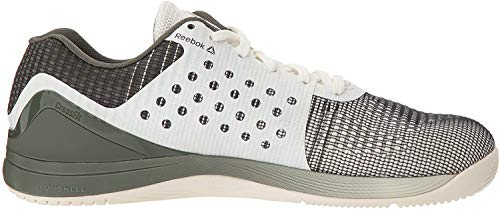 Reebok Men's CROSSFIT Nano 7 Sneaker, Men's Chalk/Hunter Green, 8 M US