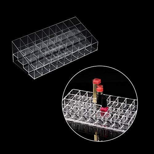 Transparent 36 Grille Porte-Rouge À Lèvres Acrylique Cosmétique Organisateur Rouge À Lèvres Affichage Rack Portable Maquillage Boîte De Rangement - Transparent