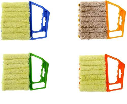 Mini Cepillo de Mano para Plumero Ciego,Aire Acondicionado Duster,Extraíble, para La Limpieza del Polvo De La Ventana Lavable para Toldos Revestimiento Vinilo Ventilador para Automóvil 2 pcs (Verde)