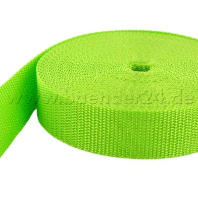 50m PP Gurtband - 50mm breit - 1,4mm stark - limone (UV)