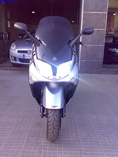 ANABBAGLIANTE TUTTO LED NUOVA TECNOLOGIA EASYELETTRONICA/® KIT LED CREE MOTO T-MAX LAMPADE H11 PER YAMAH TMAX 530 ABBAGLIANTE