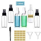 Botellas de spray Vacía Transparente, Botella de Aerosol Viaje, plástico, Bote...
