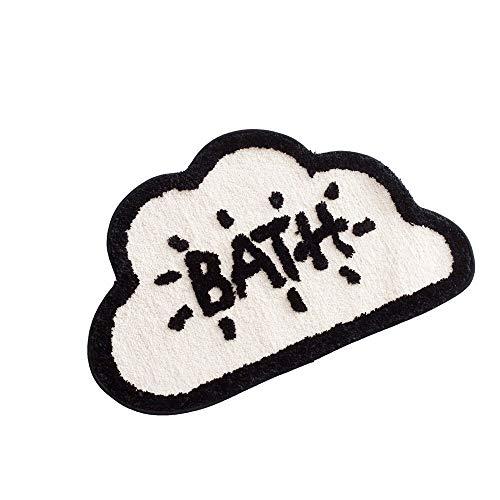 weichuang Absorbent mat New Thick Flocking Cartoon Door Mat, Household Bathroom Absorbent Non-slip Mat, Door Mat, Door Mat Absorbent mat (Color : Black)