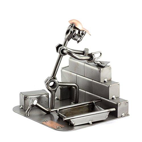 Steelman24 I Schraubenmännchen Maurer I Made in Germany I Handarbeit I Geschenkidee I Stahlfigur I Metallfigur I Metallmännchen