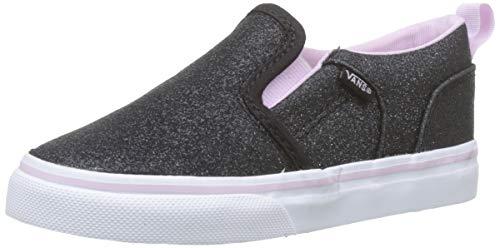 Vans Unisex Kinder Asher V Sneaker, Schwarz ((Glitter) Lilac Snow V2r), 22 EU