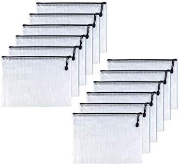OAIMYY B6 Waterproof Tear Resistant Plastic Zipper Pen File Document Folders Pockets Travel product image