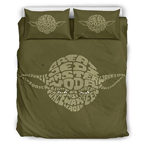 Juego de funda de edredón de microfibra de Yodaman, de 3 piezas, con funda de edredón y fundas de almohada para dormitorio, de fácil cuidado, color blanco