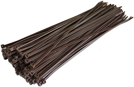 100 x Brown Cable Ties - 100mm x 2.5mm (Zip Tie Bases) by All Trade Direct