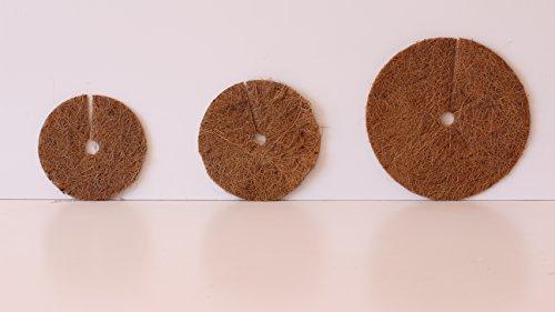 Pokugiardini, Kokos-Mulchscheiben, Ø 32 cm , 3 Stck,