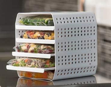 2021 Freezer Cube wholesale 5 Tier discount Zip Lock Freezer Bag Storage System By SkyMall outlet online sale
