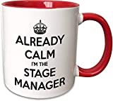 Ya Calm I'm The Stage Manager Taza de cerámica, negro/blanco, 11 oz